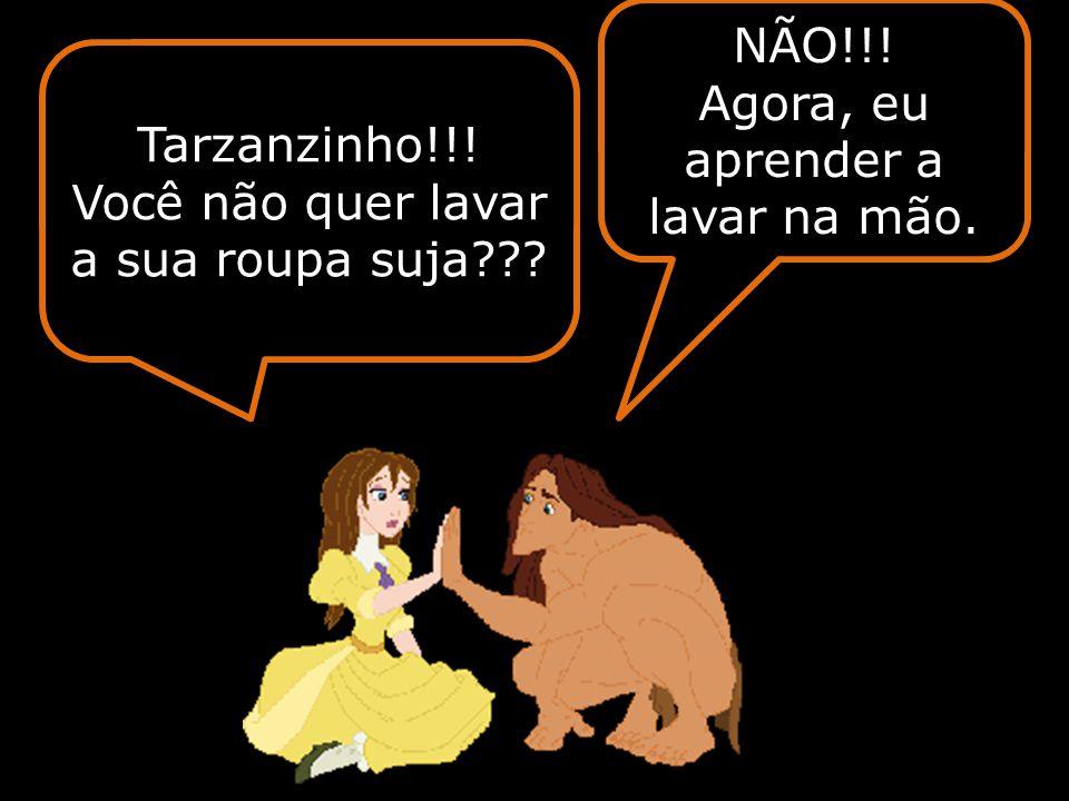 Passados 15 dias, Jane se aproximou de Tarzan para fazer as pazes.