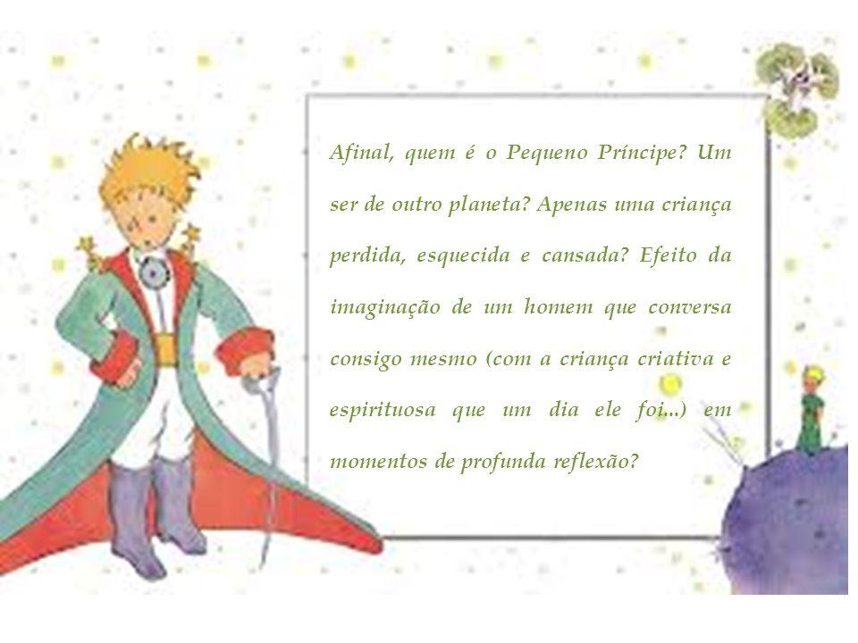 Afinal, quem é o Pequeno Príncipe? Um ser de outro planeta? Apenas uma criança perdida, esquecida e cansada? Efeito da imaginação de um homem que conv