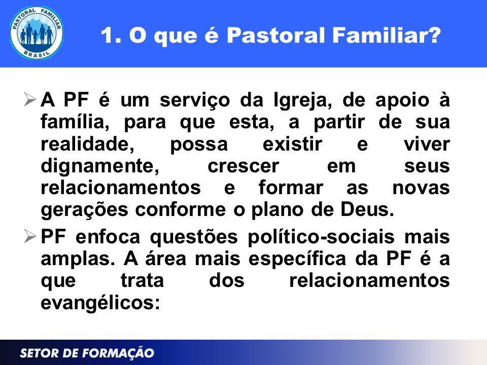 1. O que é Pastoral Familiar.