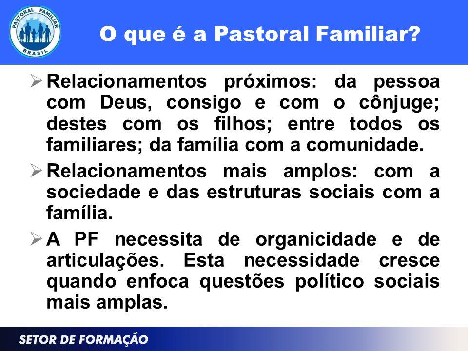 O que é a Pastoral Familiar.