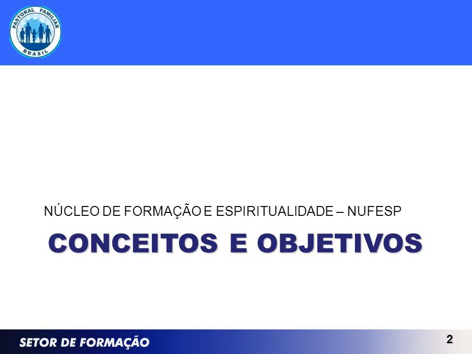 CONCEITOS E OBJETIVOS NÚCLEO DE FORMAÇÃO E ESPIRITUALIDADE – NUFESP 2
