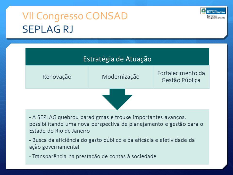 VII Congresso CONSAD SEPLAG RJ - A SEPLAG quebrou paradigmas e trouxe importantes avanços, possibilitando uma nova perspectiva de planejamento e gestã