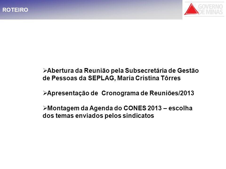 CRONOGRAMA PARA O EXERCÍCIO DE 2013 MÊSDIAHORAPART ICIPAÇÃO SECRETÁRIA PARTICIPAÇÃO SUBSECRETÁRI A LOCALNÚMERO DO TEMA Mar2610:30 Horas X Ed.