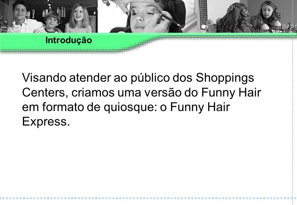Visando atender ao público dos Shoppings Centers, criamos uma versão do Funny Hair em formato de quiosque: o Funny Hair Express. Introdução