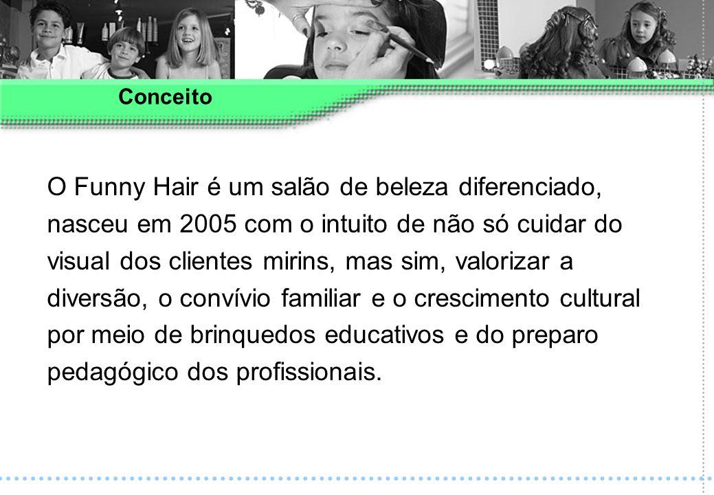 O Funny Hair é um salão de beleza diferenciado, nasceu em 2005 com o intuito de não só cuidar do visual dos clientes mirins, mas sim, valorizar a dive