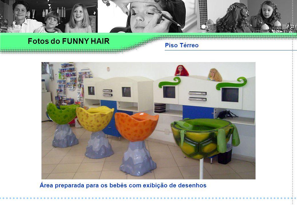Piso Térreo Área preparada para os bebês com exibição de desenhos Fotos do FUNNY HAIR