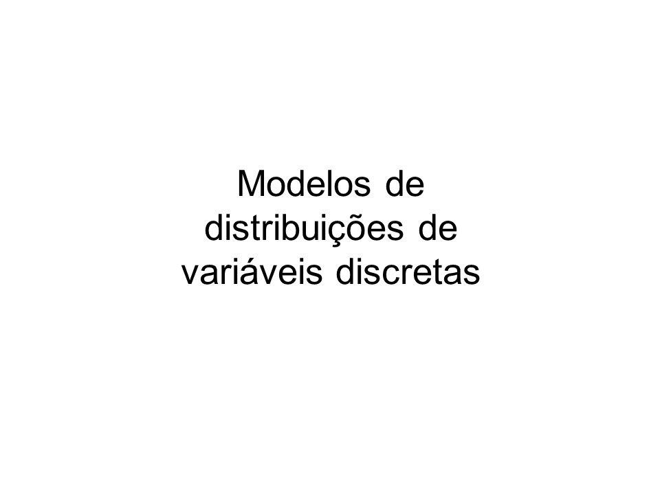 Modelos de distribuições de variáveis discretas