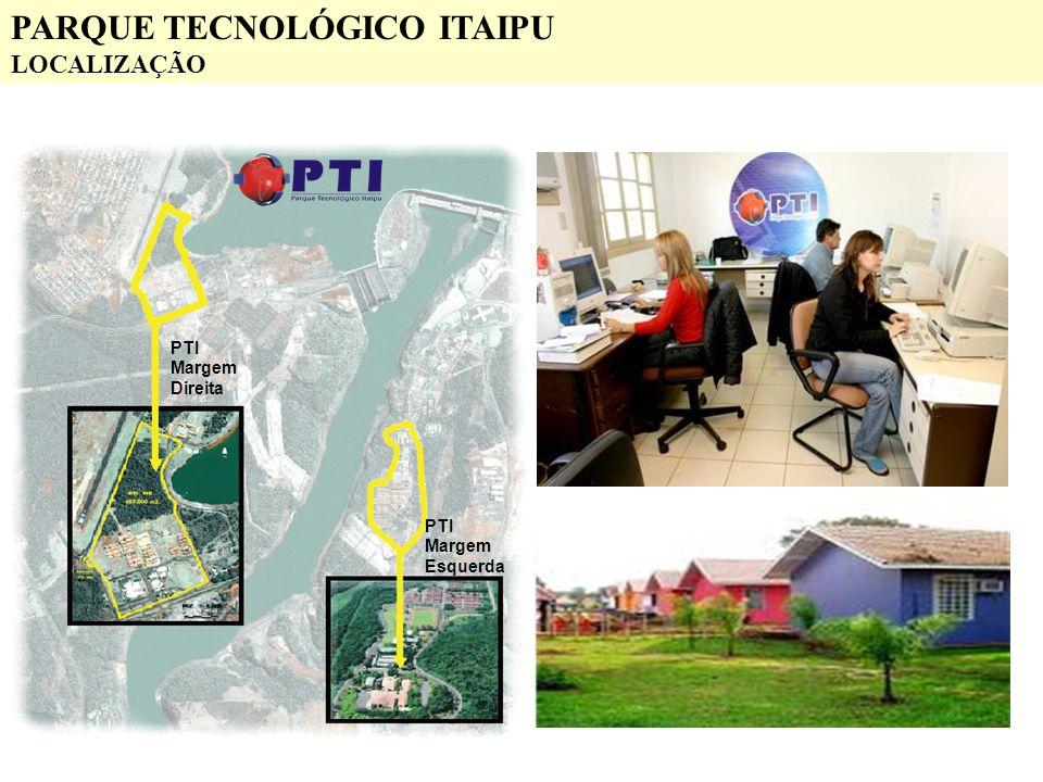 PTI Margem Direita PTI Margem Esquerda PARQUE TECNOLÓGICO ITAIPU LOCALIZAÇÃO