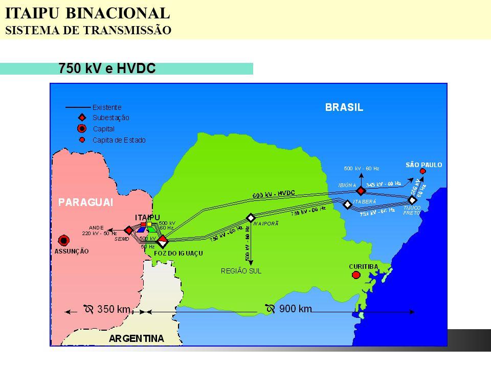 750 kV e HVDC ITAIPU BINACIONAL SISTEMA DE TRANSMISSÃO
