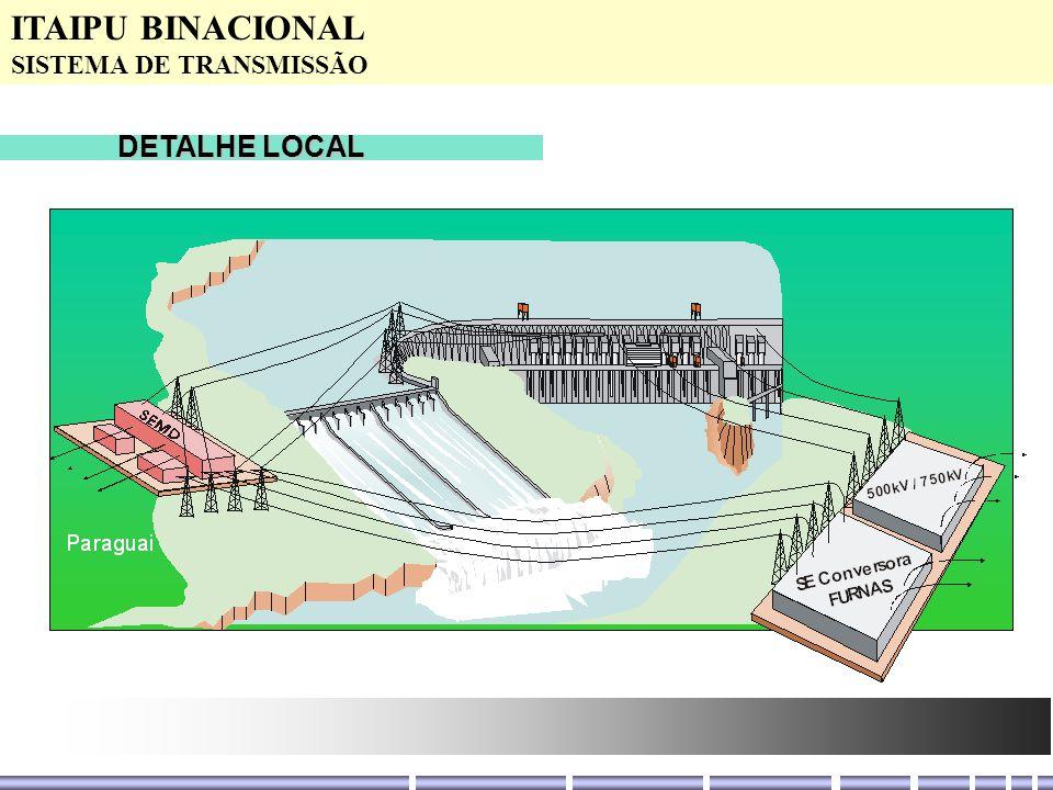 DETALHE LOCAL ITAIPU BINACIONAL SISTEMA DE TRANSMISSÃO