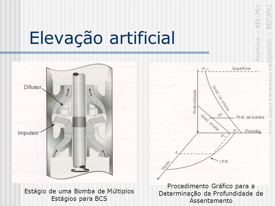Elevação artificial Estágio de uma Bomba de Múltiplos Estágios para BCS Procedimento Gráfico para a Determinação da Profundidade de Assentamento