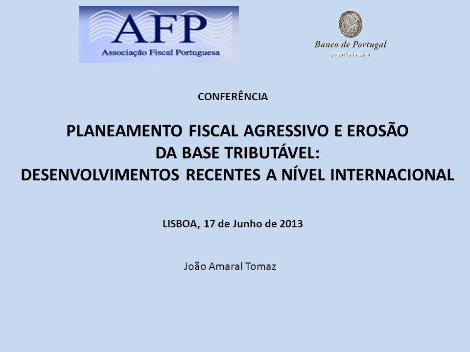 2 O CONSELHO EUROPEU DE 22 DE MAIO DE 2013 CONCLUSÕES PRIORIDADES IMEDIATAS ENQUADRAMENTO DA FRAUDE FISCAL E ATP (AGRESSIVE TAX PLANNING)* A RESPONSABILIDADE SOCIAL DAS EMPRESAS E OS IMPOSTOS BEPS (BASE EROSION AND PROFIT SHIFTING) ANÁLISE DO RELATÓRIO DA OCDE A REUNIÃO DO G8 DE HOJE E AMANHÃ (**) EM LOUGH ERNE, IRLANDA DO NORTE A APROVAÇÃO DO PLANO DE ACÇÃO BEPS (PRÓXIMO 25 DE JUNHO) IRÁ RESULTAR.