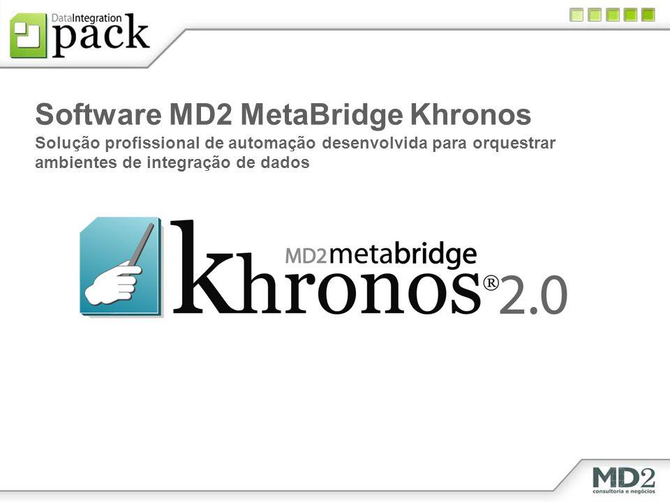 Software MD2 MetaBridge Khronos Solução profissional de automação desenvolvida para orquestrar ambientes de integração de dados