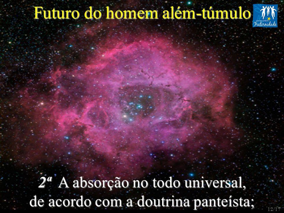 2ª A absorção no todo universal, de acordo com a doutrina panteísta; Futuro do homem além-túmulo 12/17