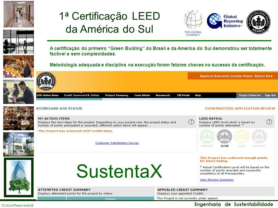 S USTENTA X Engenharia de Sustentabilidade Direitos Reservados © A certificação do primeiro Green Bulding do Brasil e da América do Sul demonstrou ser