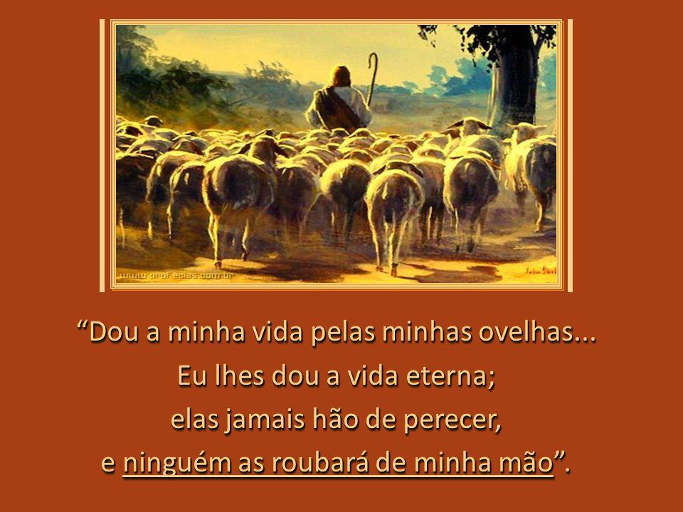 Eu vim para que as ovelhas tenham a vida e a tenham em abundância; e a tenham em abundância; Eu vim para que as ovelhas tenham a vida e a tenham em abundância; e a tenham em abundância; Docemente Ele revela o que veio fazer: o que veio fazer:Docemente Ele revela o que veio fazer: o que veio fazer: