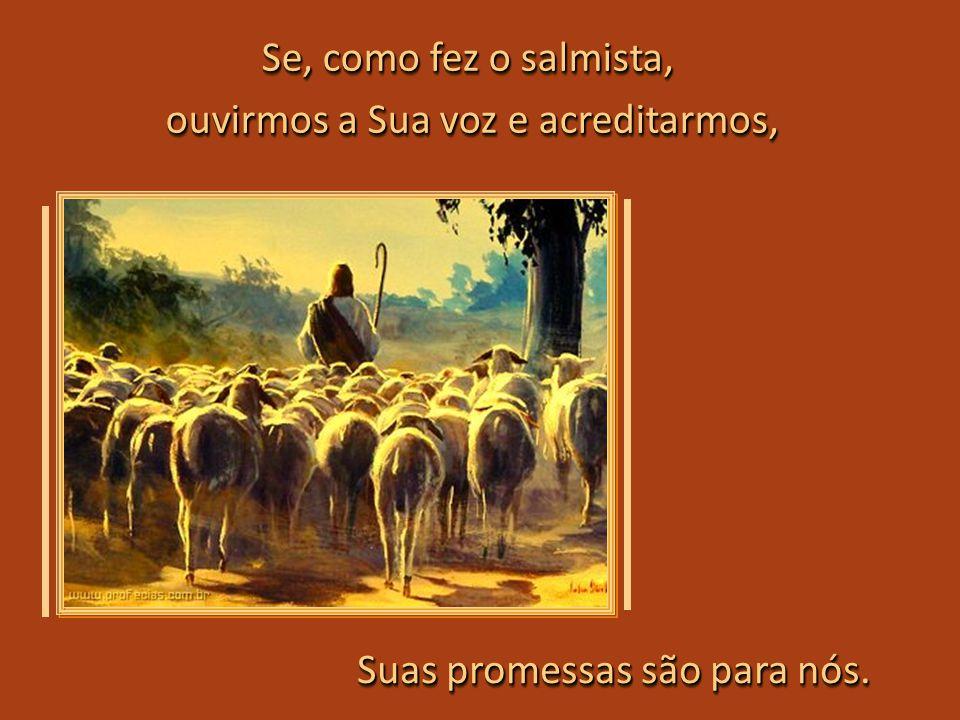 O Bom Pastor se inquieta por causa do seu rebanho e vai chamando todos para segui-Lo... e receber as bênçãos prometidas. e receber as bênçãos prometid