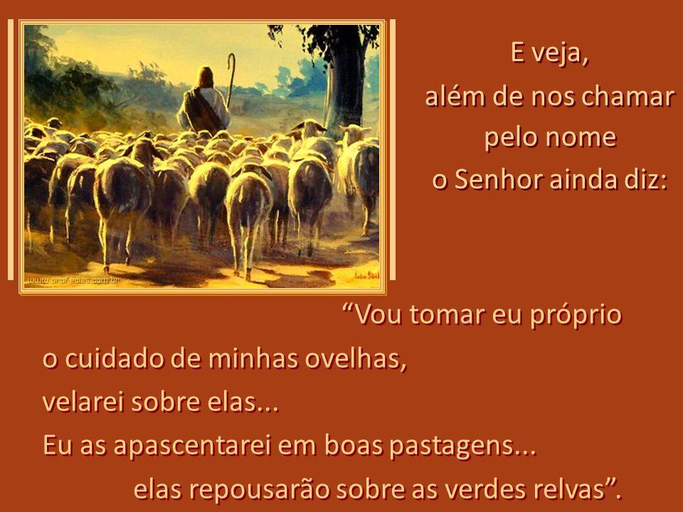 O Senhor diz que somos Suas ovelhas, que conhece a cada uma (que somos nós), e nos chama pelo nome; assim chama você... O Senhor diz que somos Suas ov