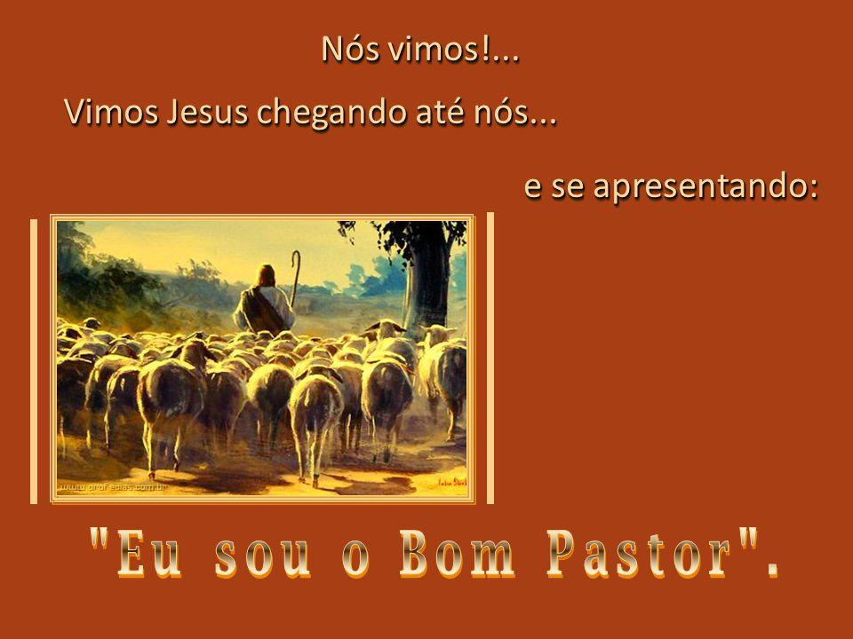 Nós vimos!... Vimos Jesus chegando até nós... e se apresentando: