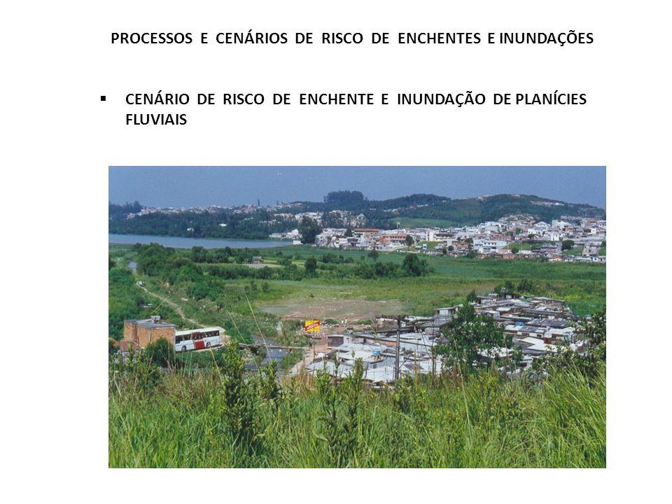 PROCESSOS E CENÁRIOS DE RISCO DE ENCHENTES E INUNDAÇÕES CENÁRIO DE RISCO DE ENCHENTE E INUNDAÇÃO DE PLANÍCIES FLUVIAIS