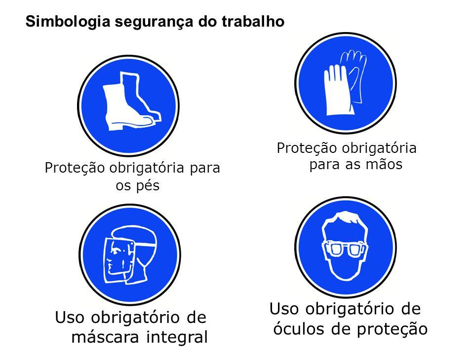 Simbologia segurança do trabalho Material corrosivo Material tóxico Material radioativo