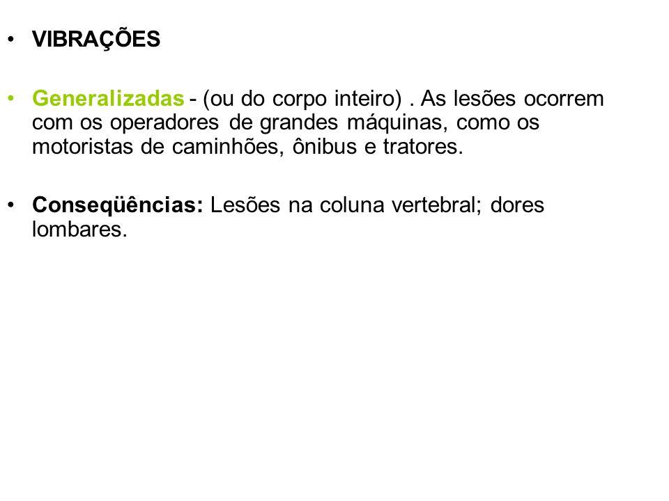 VIBRAÇÕES Localizadas - (em certas partes do corpo).