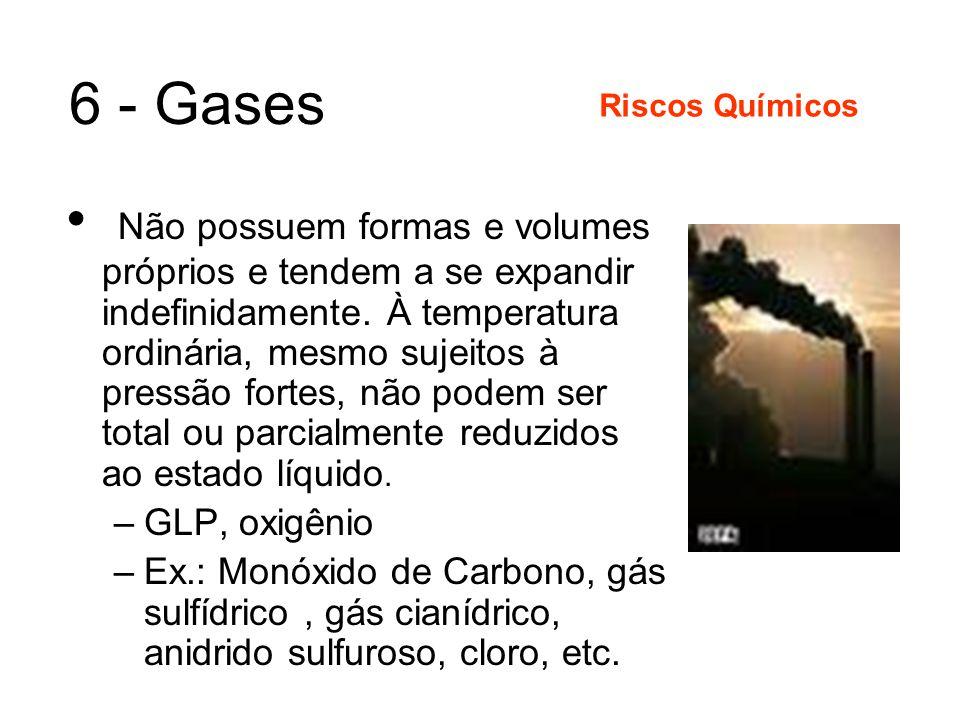 5 - Vapores São substâncias que se encontram no estado gasoso como resultado de algum tipo de alteração no seu estado normal e temperatura ambiente.