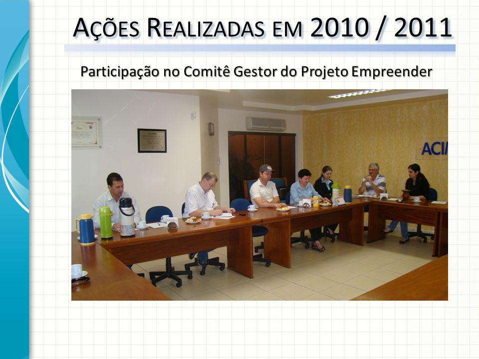 Participação no Comitê Gestor do Projeto Empreender