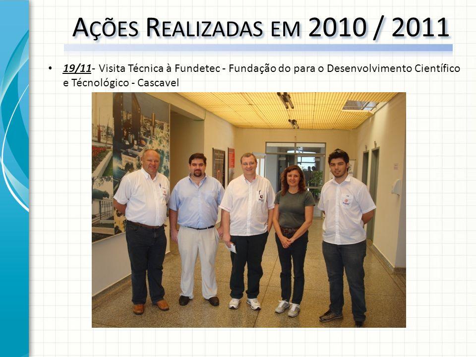 19/11- Visita Técnica à Fundetec - Fundação do para o Desenvolvimento Científico e Técnológico - Cascavel