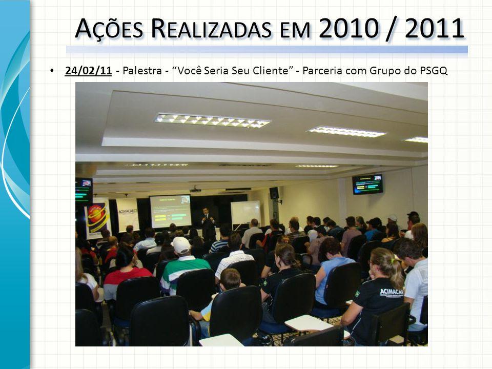 24/02/11 - Palestra - Você Seria Seu Cliente - Parceria com Grupo do PSGQ
