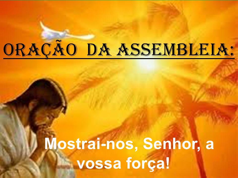 ORAÇÃO DA ASSEMBLEIA: Mostrai-nos, Senhor, a vossa força!