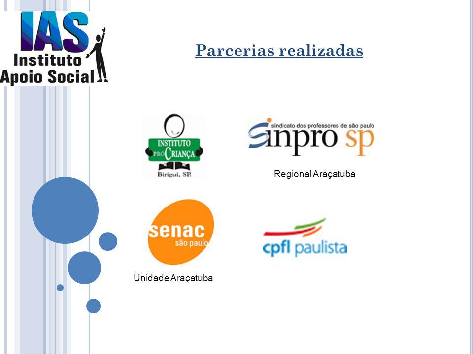 Parcerias realizadas Regional Araçatuba Unidade Araçatuba