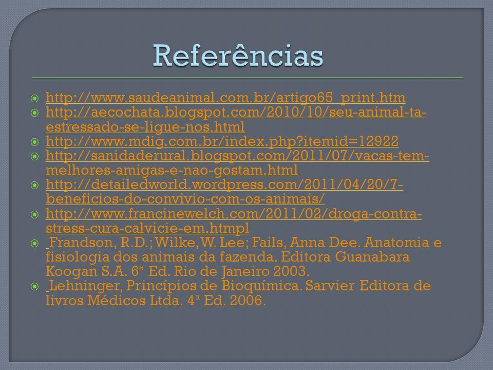http://www.saudeanimal.com.br/artigo65_print.htm http://aecochata.blogspot.com/2010/10/seu-animal-ta- estressado-se-ligue-nos.html http://aecochata.bl