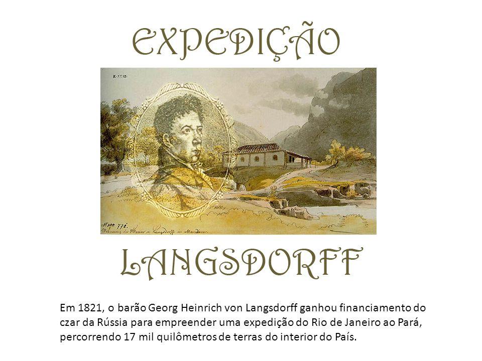 Em 1821, o barão Georg Heinrich von Langsdorff ganhou financiamento do czar da Rússia para empreender uma expedição do Rio de Janeiro ao Pará, percorr