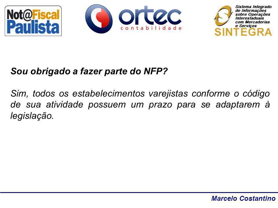 Marcelo Costantino Sou obrigado a fazer parte do NFP? Sim, todos os estabelecimentos varejistas conforme o código de sua atividade possuem um prazo pa