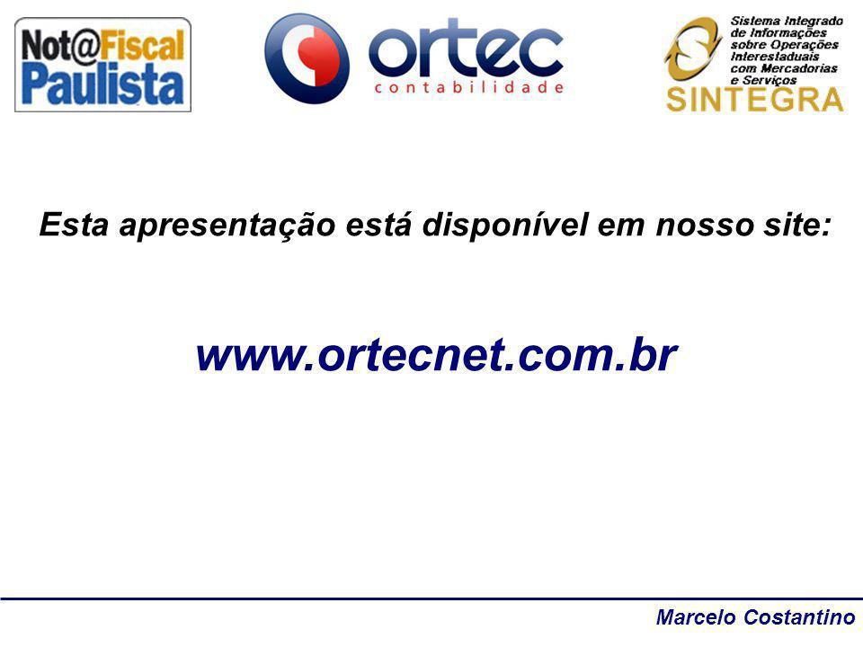 Marcelo Costantino Esta apresentação está disponível em nosso site: www.ortecnet.com.br