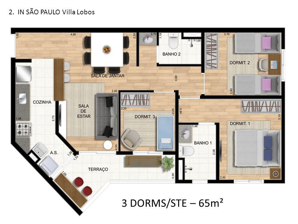 3 DORMS/STE – 65m²