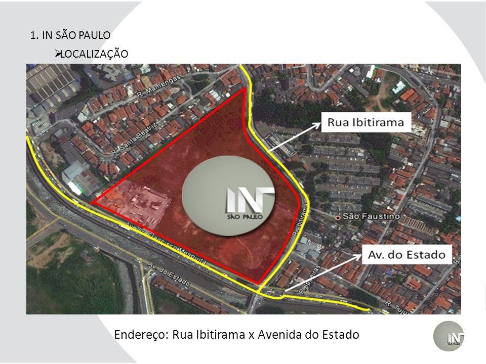 1. IN SÃO PAULO Endereço: Rua Ibitirama x Avenida do Estado Rua Ibitirama Av. do Estado LOCALIZAÇÃO