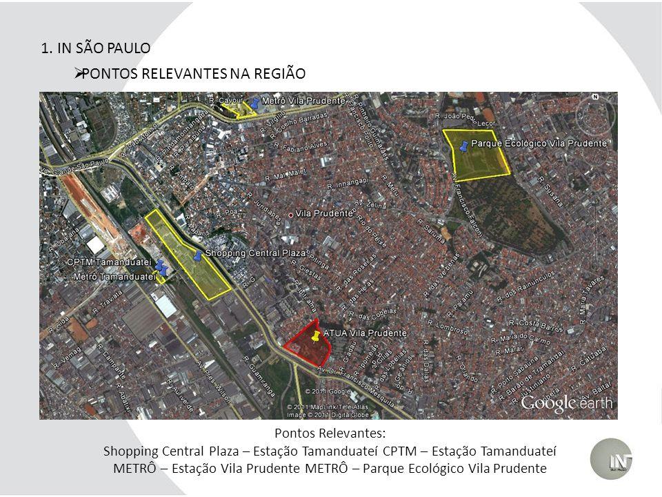 Pontos Relevantes: Shopping Central Plaza – Estação Tamanduateí CPTM – Estação Tamanduateí METRÔ – Estação Vila Prudente METRÔ – Parque Ecológico Vila