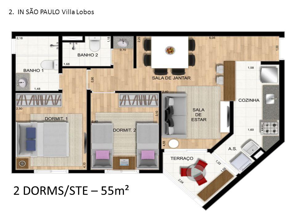 2. IN SÃO PAULO Villa Lobos 2 DORMS/STE – 55m²