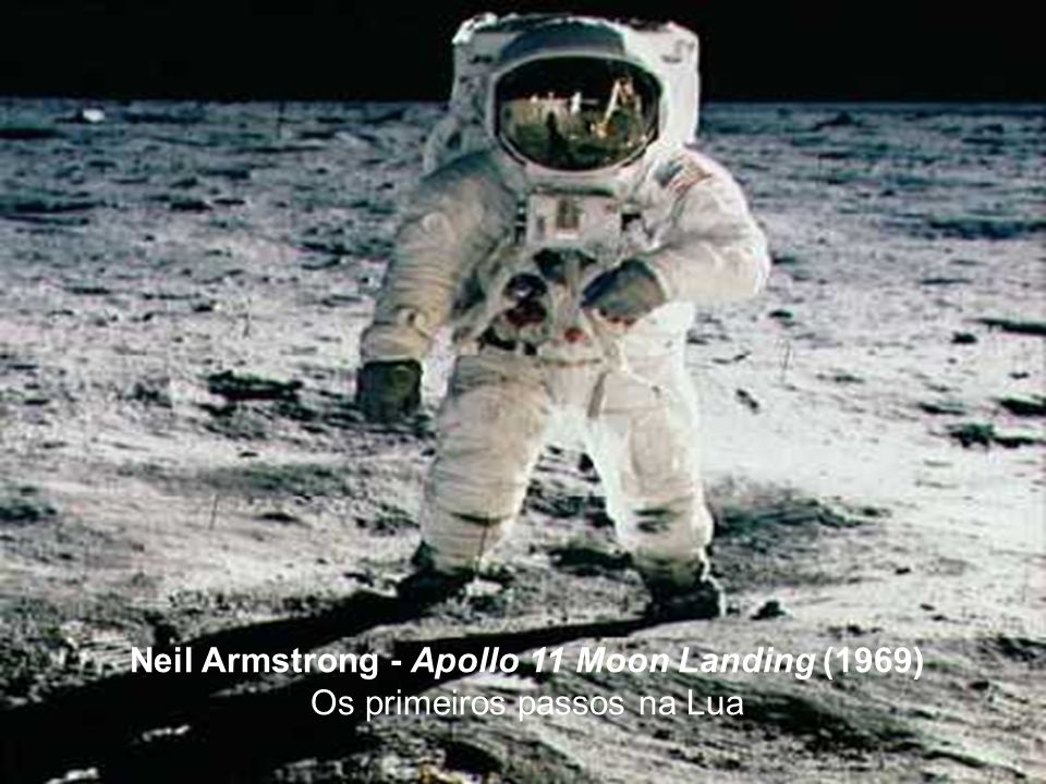 Neil Armstrong - Apollo 11 Moon Landing (1969) Os primeiros passos na Lua