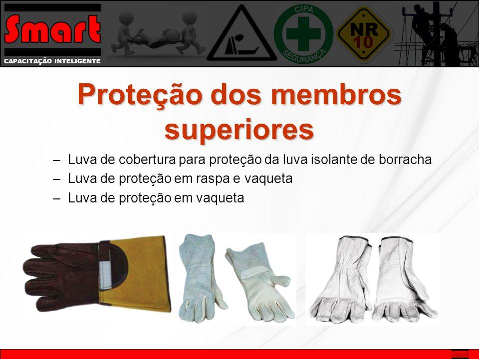CAPACITAÇÃO INTELIGENTE –Luva de cobertura para proteção da luva isolante de borracha –Luva de proteção em raspa e vaqueta –Luva de proteção em vaqueta Proteção dos membros superiores