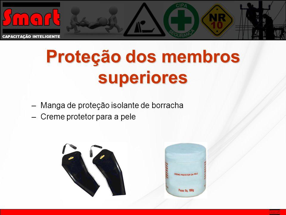 CAPACITAÇÃO INTELIGENTE –Manga de proteção isolante de borracha –Creme protetor para a pele Proteção dos membros superiores