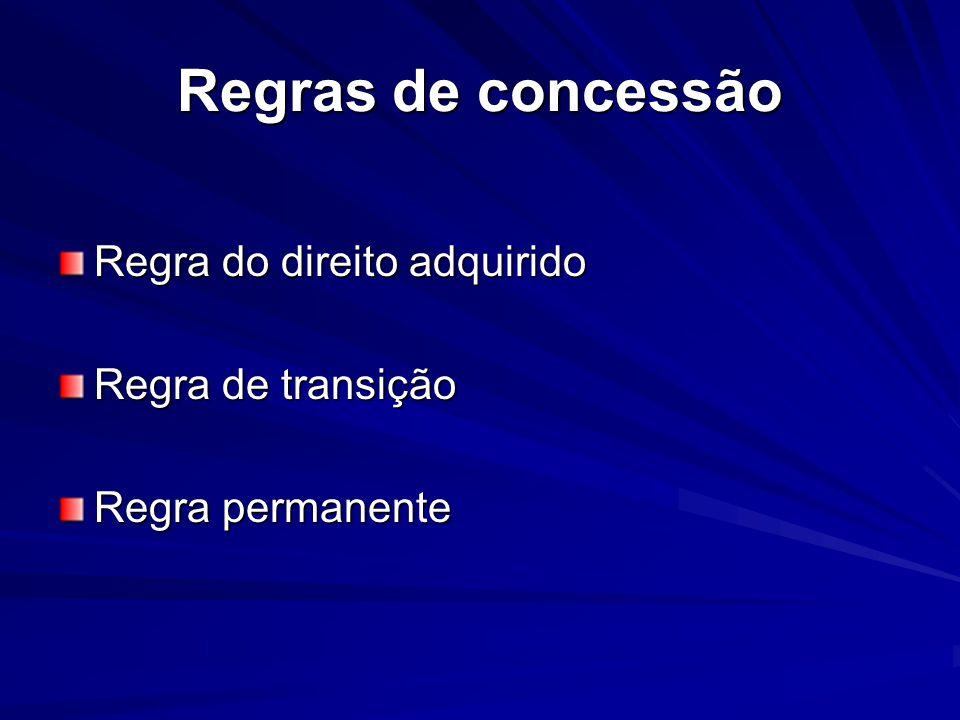 Regras sobre aposentadoria APOSENTAODIRA VOLUNTÁRIA 1ª REGRA DE TRANSIÇÃO (art.