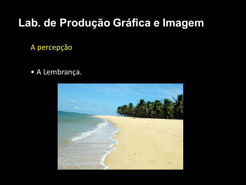 A percepção A Lembrança. Lab. de Produção Gráfica e Imagem