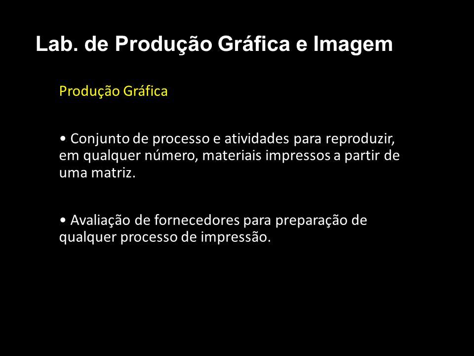 Produção Gráfica Conjunto de processo e atividades para reproduzir, em qualquer número, materiais impressos a partir de uma matriz. Avaliação de forne