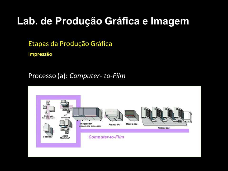 Etapas da Produção Gráfica Impressão Processo (a): Computer- to-Film Lab. de Produção Gráfica e Imagem