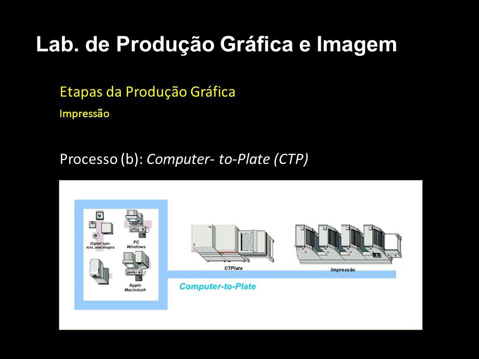 Etapas da Produção Gráfica Impressão Processo (b): Computer- to-Plate (CTP) Lab. de Produção Gráfica e Imagem