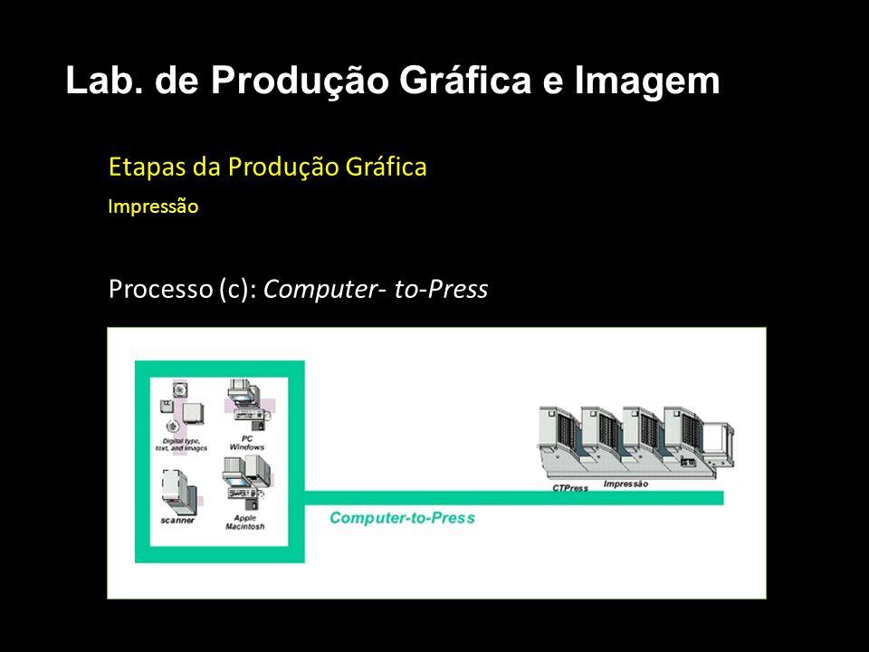 Etapas da Produção Gráfica Impressão Processo (c): Computer- to-Press Lab. de Produção Gráfica e Imagem