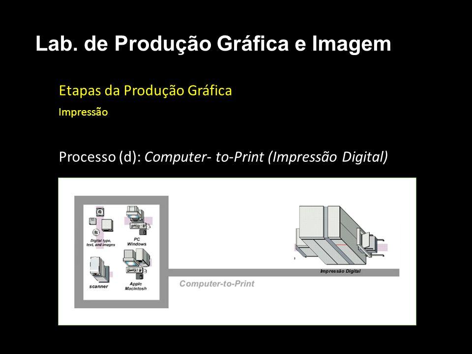 Etapas da Produção Gráfica Impressão Processo (d): Computer- to-Print (Impressão Digital) Lab. de Produção Gráfica e Imagem